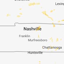 Regional Hail Map for Nashville, TN - Monday, June 11, 2018