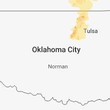 Regional Hail Map for Oklahoma City, OK - Monday, June 11, 2018