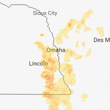 Regional Hail Map for Omaha, NE - Monday, June 11, 2018