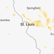 Hail Map for saint-louis-mo 2018-06-11