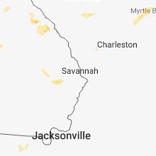 Regional Hail Map for Savannah, GA - Monday, June 11, 2018