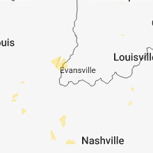 Regional Hail Map for Evansville, IN - Tuesday, June 12, 2018