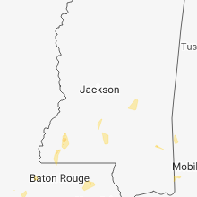 Regional Hail Map for Jackson, MS - Tuesday, June 12, 2018