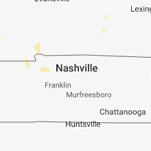 Regional Hail Map for Nashville, TN - Tuesday, June 12, 2018