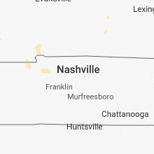 Regional Hail Map for Nashville, TN - Tuesday, June 12, 2018