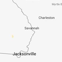 Regional Hail Map for Savannah, GA - Tuesday, June 12, 2018