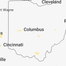 Regional Hail Map for Columbus, OH - Wednesday, June 13, 2018