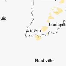 Regional Hail Map for Evansville, IN - Wednesday, June 13, 2018