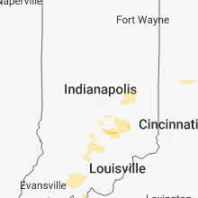 Regional Hail Map for Indianapolis, IN - Wednesday, June 13, 2018