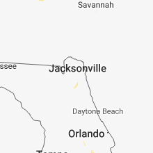 Regional Hail Map for Jacksonville, FL - Wednesday, June 13, 2018