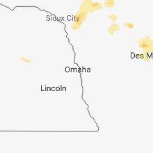 Regional Hail Map for Omaha, NE - Wednesday, June 13, 2018