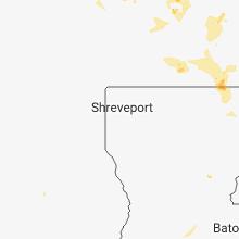 Regional Hail Map for Shreveport, LA - Wednesday, June 13, 2018