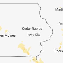Hail Map for cedar-rapids-ia 2018-06-14