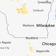 Regional Hail Map for Madison, WI - Thursday, June 14, 2018