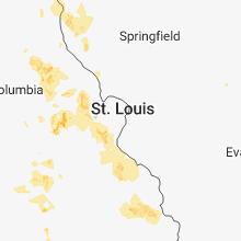 Hail Map for saint-louis-mo 2018-06-14