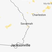 Regional Hail Map for Savannah, GA - Thursday, June 14, 2018