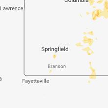 Regional Hail Map for Springfield, MO - Thursday, June 14, 2018