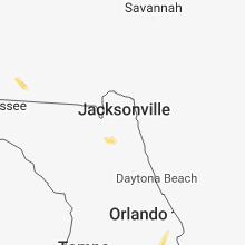 Regional Hail Map for Jacksonville, FL - Friday, June 15, 2018