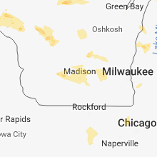 Regional Hail Map for Madison, WI - Friday, June 15, 2018