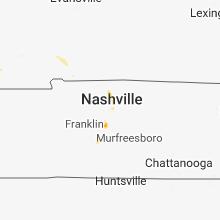 Regional Hail Map for Nashville, TN - Friday, June 15, 2018