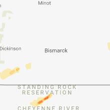 Regional Hail Map for Bismarck, ND - Saturday, June 16, 2018