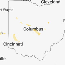 Regional Hail Map for Columbus, OH - Saturday, June 16, 2018
