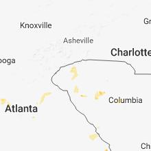 Regional Hail Map for Greenville, SC - Saturday, June 16, 2018