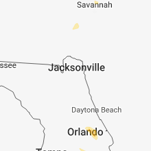 Regional Hail Map for Jacksonville, FL - Saturday, June 16, 2018