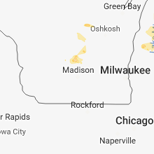 Regional Hail Map for Madison, WI - Saturday, June 16, 2018