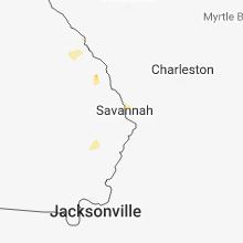 Regional Hail Map for Savannah, GA - Saturday, June 16, 2018