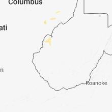 Regional Hail Map for Charleston, WV - Sunday, June 17, 2018