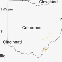 Regional Hail Map for Columbus, OH - Sunday, June 17, 2018