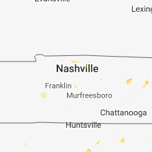 Regional Hail Map for Nashville, TN - Sunday, June 17, 2018