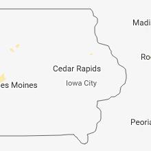 Hail Map for cedar-rapids-ia 2018-06-18