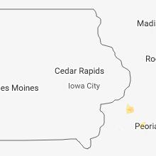 Regional Hail Map for Cedar Rapids, IA - Tuesday, June 19, 2018