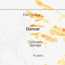 Regional Hail Map for Denver, CO - Tuesday, June 19, 2018