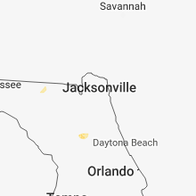 Regional Hail Map for Jacksonville, FL - Tuesday, June 19, 2018