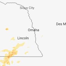 Regional Hail Map for Omaha, NE - Tuesday, June 19, 2018
