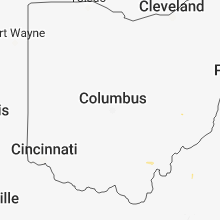 Regional Hail Map for Columbus, OH - Wednesday, June 20, 2018
