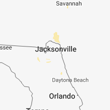 Regional Hail Map for Jacksonville, FL - Wednesday, June 20, 2018