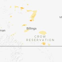 Hail Map for Billings, MT - Thursday, June 21, 2018
