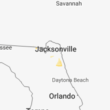 Regional Hail Map for Jacksonville, FL - Thursday, June 21, 2018