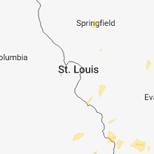 Regional Hail Map for Saint Louis, MO - Thursday, June 21, 2018