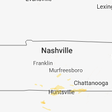 Regional Hail Map for Nashville, TN - Friday, June 22, 2018