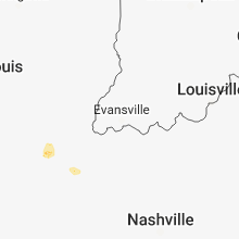 Regional Hail Map for Evansville, IN - Saturday, June 23, 2018