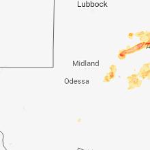Regional Hail Map for Odessa, TX - Saturday, June 23, 2018