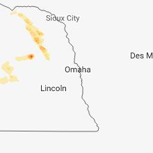 Regional Hail Map for Omaha, NE - Saturday, June 23, 2018