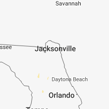 Regional Hail Map for Jacksonville, FL - Sunday, June 24, 2018