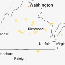 Regional Hail Map for Richmond, VA - Sunday, June 24, 2018