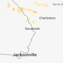 Hail Map for savannah-ga 2018-06-24